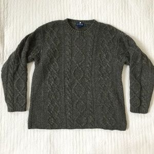 Vintage J. Crew Cable Knit Fisherman Wool Sweater